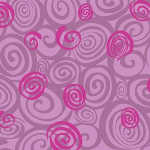 A spiralling fishy tail (lavender)