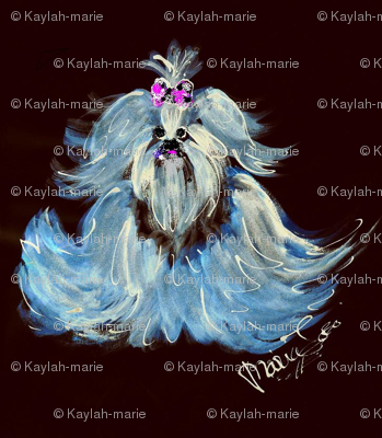 YORKIE BLUE by Kaylah Marie