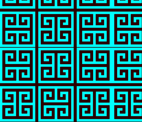 greek turquoise fabric by nascustomwallcoverings on Spoonflower - custom fabric