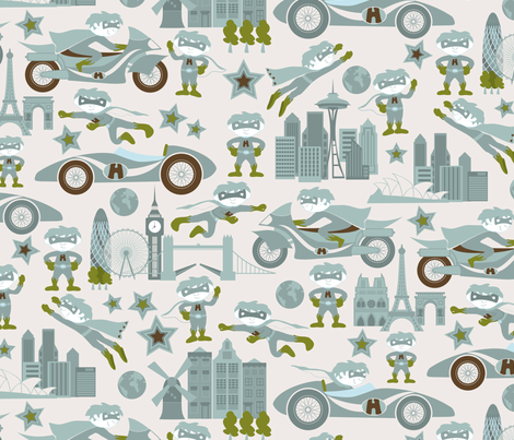 A hero the world over fabric by ebygomm on Spoonflower - custom fabric