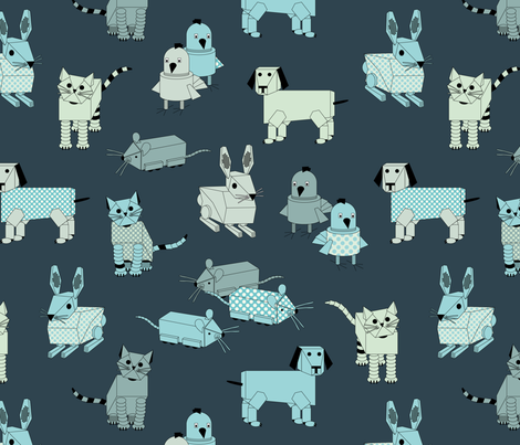 eulen&lerchen_robots fabric by eulen&lerchen on Spoonflower - custom fabric