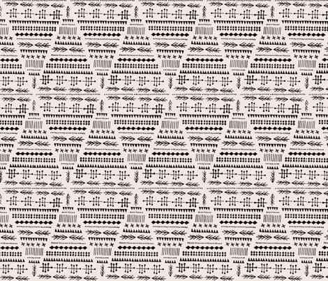 Winter of 2012 - pale pink & black fabric by anda on Spoonflower - custom fabric