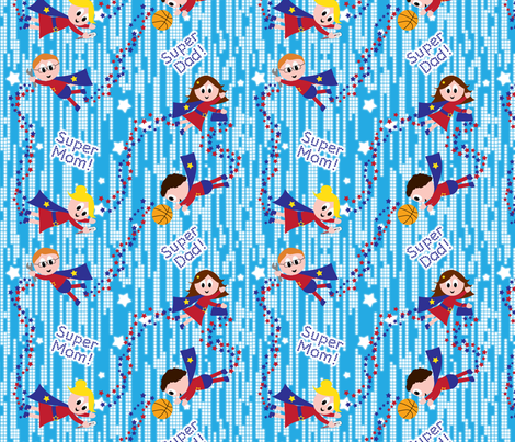 All Moms and Dads are Heroes fabric by shelleymade on Spoonflower - custom fabric