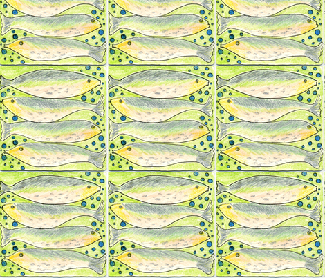 Trout fabric by pink_finch on Spoonflower - custom fabric