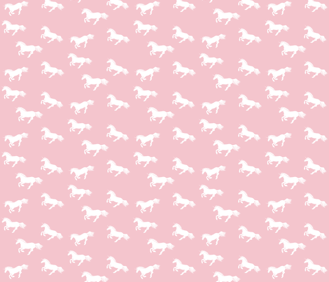 Unicorn Stampede in Pink fabric by thistleandfox on Spoonflower - custom fabric