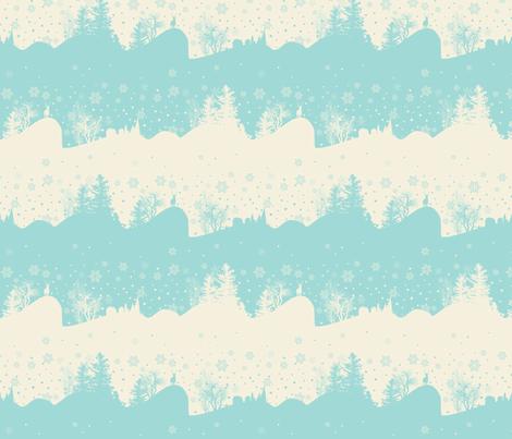 Xmas Snow fabric by lauralvarez on Spoonflower - custom fabric