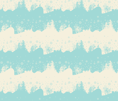 Xmas Snow fabric by lauralvarez on Spoonflower - custom fabric