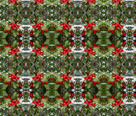 Festive Holly 2606 fabric by falcon11 on Spoonflower - custom fabric