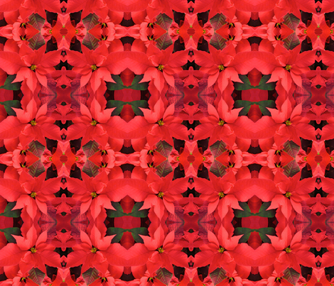 Red Poinsettias_2518 fabric by falcon11 on Spoonflower - custom fabric