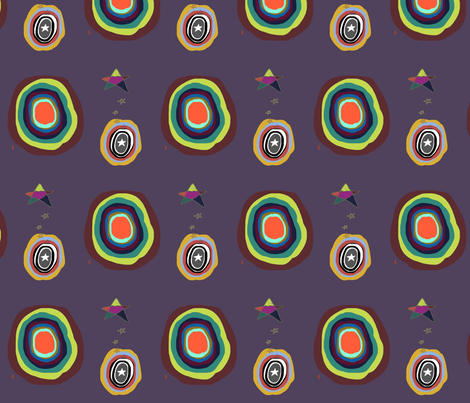 Circus Stars and Circles fabric by lisarydinerickson on Spoonflower - custom fabric