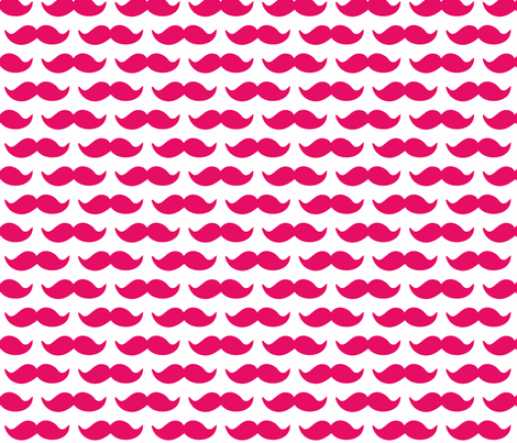 mustache hot pink fabric by wildhoneypie on Spoonflower - custom fabric