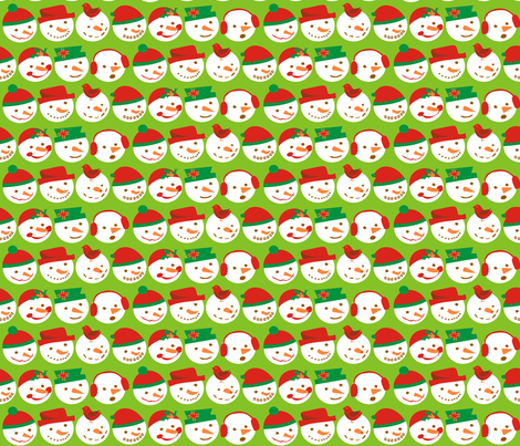 Snowman fabric by lauralvarez on Spoonflower - custom fabric