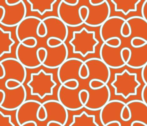 Geometric Loopy-Orange fabric by anntuck on Spoonflower - custom fabric