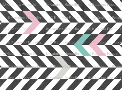 arrows_black_and_white_pattern