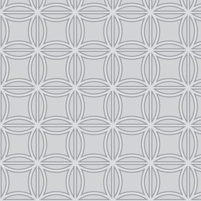 Abstract Flowers in Gray