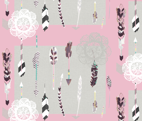 arrows pink fabric by katarina on Spoonflower - custom fabric