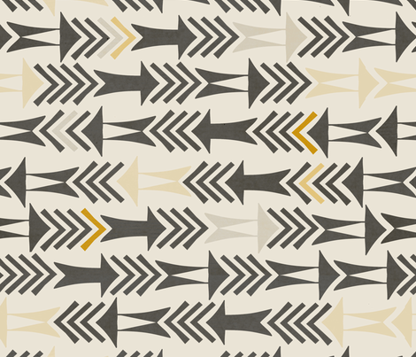 Points in the Right Direction fabric by patternandco_com on Spoonflower - custom fabric