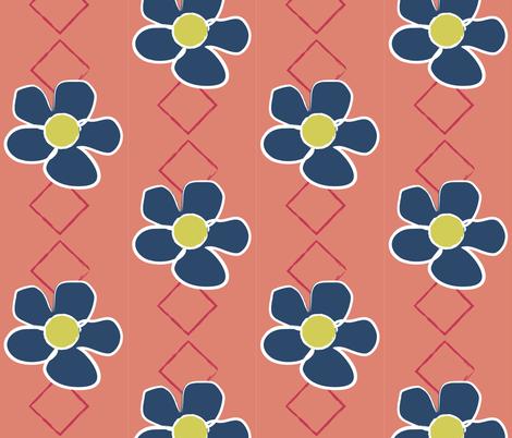 Blue Flowers fabric by hmooreart on Spoonflower - custom fabric