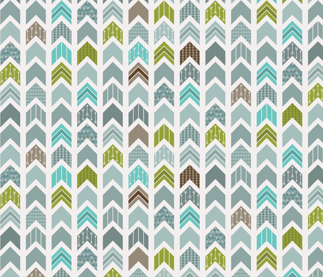 Chevron, Arrow, Pointer fabric by ebygomm on Spoonflower - custom fabric