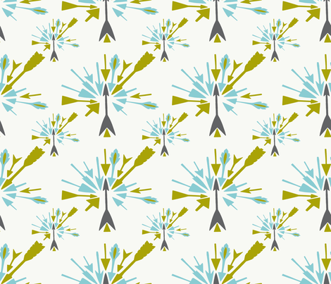 Arrows Point fabric by siribean on Spoonflower - custom fabric