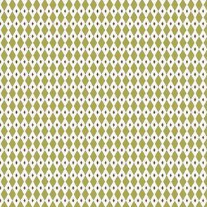 Diamond geometric in green and brown