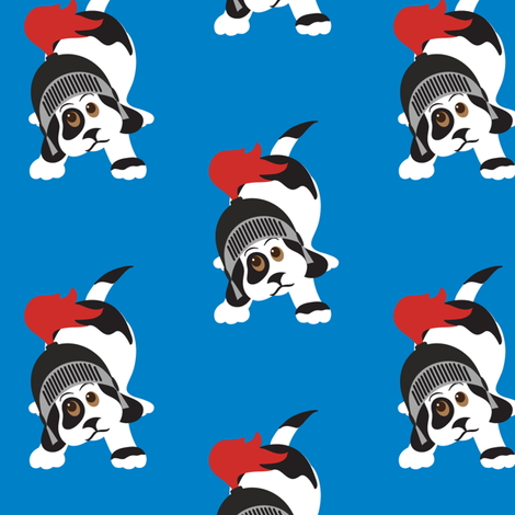 Puppy Hero fabric by jenniferfranklin on Spoonflower - custom fabric