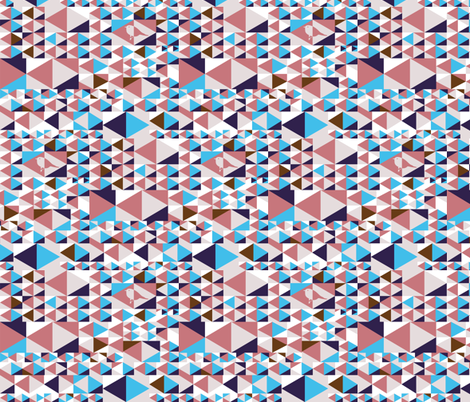 Point out my song (blue, pink, white, brown) fabric by verycherry on Spoonflower - custom fabric
