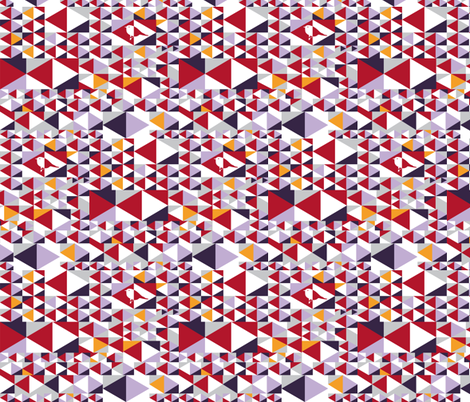 Point out my song (red, lila, purple, white, yellow, grey) fabric by verycherry on Spoonflower - custom fabric