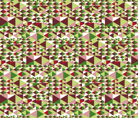 Point out my song (green, red, pink, white) fabric by verycherry on Spoonflower - custom fabric