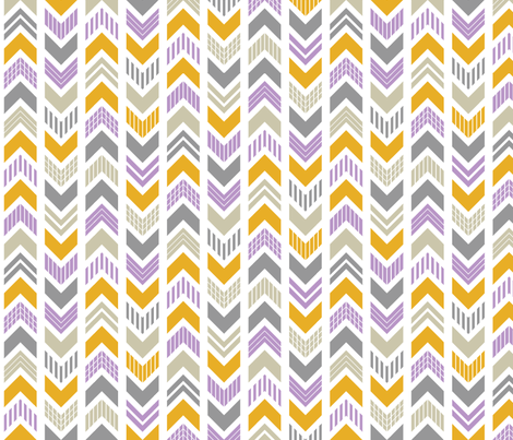 Patterned Arrowhead Chevron fabric by chunkydesign on Spoonflower - custom fabric