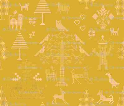 Butterscotch Cross Stitch Pattern