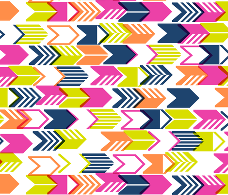 Tribal Arrows (Navy Maxi) fabric by pennycandy on Spoonflower - custom fabric