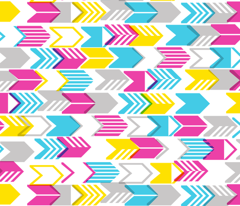 Tribal Arrows (Yellow Maxi) fabric by pennycandy on Spoonflower - custom fabric