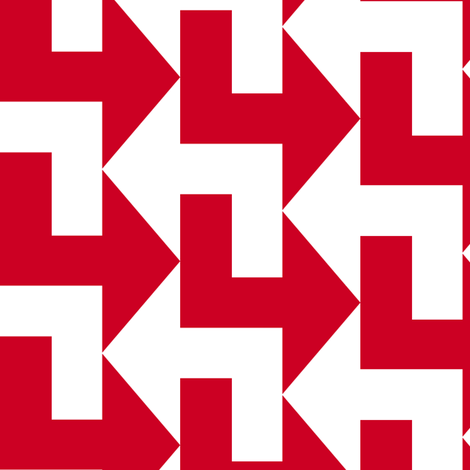 A Little to the Left - Red fabric by shelleymade on Spoonflower - custom fabric