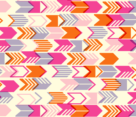 Tribal Arrows (Pink Maxi) fabric by pennycandy on Spoonflower - custom fabric