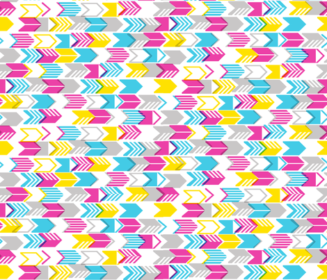 Tribal Arrows (Yellow Midi) fabric by pennycandy on Spoonflower - custom fabric