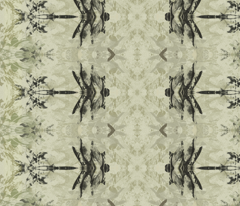 Dragonfly rows in taupe and black fabric by wren_leyland on Spoonflower - custom fabric