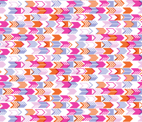 Tribal Arrows (Pink Midi) fabric by pennycandy on Spoonflower - custom fabric