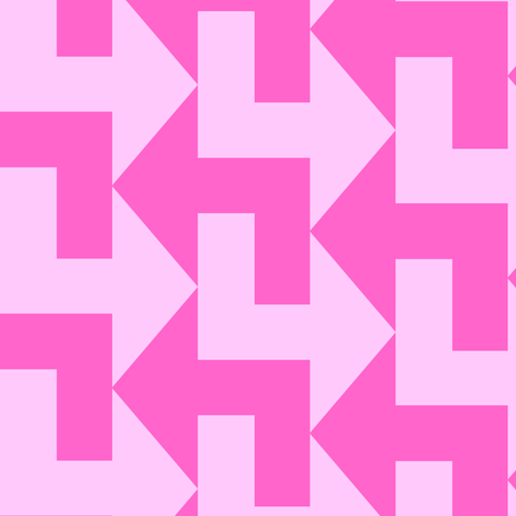 A Little to the Left - Pinks fabric by shelleymade on Spoonflower - custom fabric