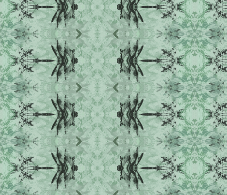 Dragonfly Batik Rows in aqua fabric by wren_leyland on Spoonflower - custom fabric