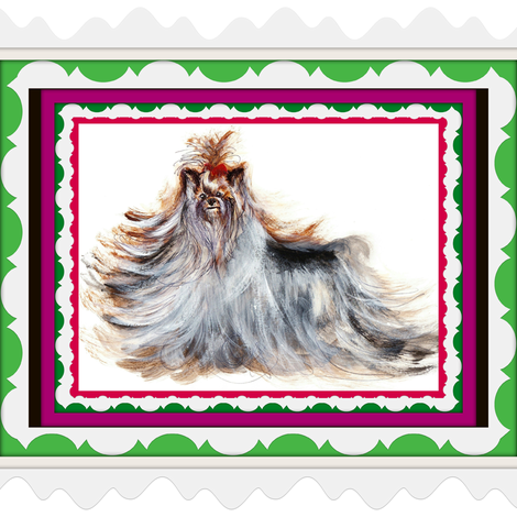 YORKIE BELLAROSA XMASBELLS fabric by kaylah-marie on Spoonflower - custom fabric