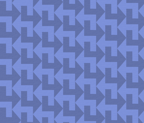 A Little to the Left - Blues in Linen fabric by shelleymade on Spoonflower - custom fabric