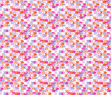 Tribal Arrows (Pink Mini) fabric by pennycandy on Spoonflower - custom fabric