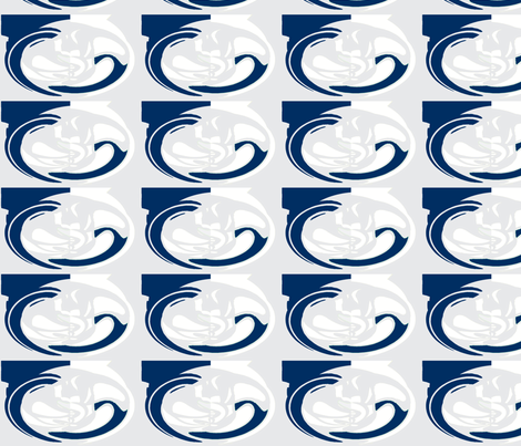 Cameo grey navy fabric by bettinablue_designs on Spoonflower - custom fabric