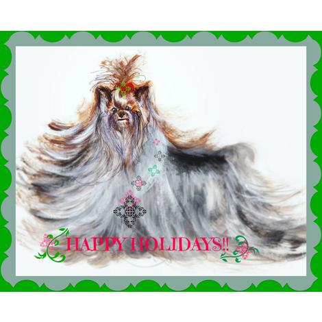YORKIE BELLA ROSA CHRISTMAS BELLS TOO fabric by kaylah-marie on Spoonflower - custom fabric