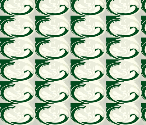 Cameo  - green grey fabric by bettinablue_designs on Spoonflower - custom fabric