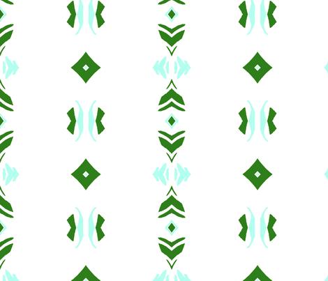 Geo  - green white aqua fabric by bettinablue_designs on Spoonflower - custom fabric