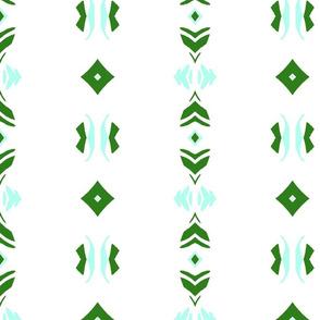 Geo  - green white aqua