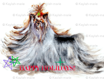 YORKIE BELLA ROSA HAPPY HOLIDAYS