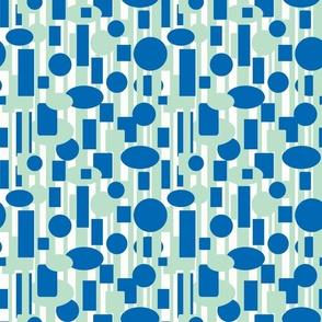 Retro_Geometric -Blue Green